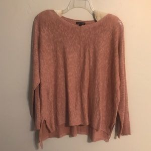 Eileen Fisher NWOT Mauve HiLo organic Sweater XL